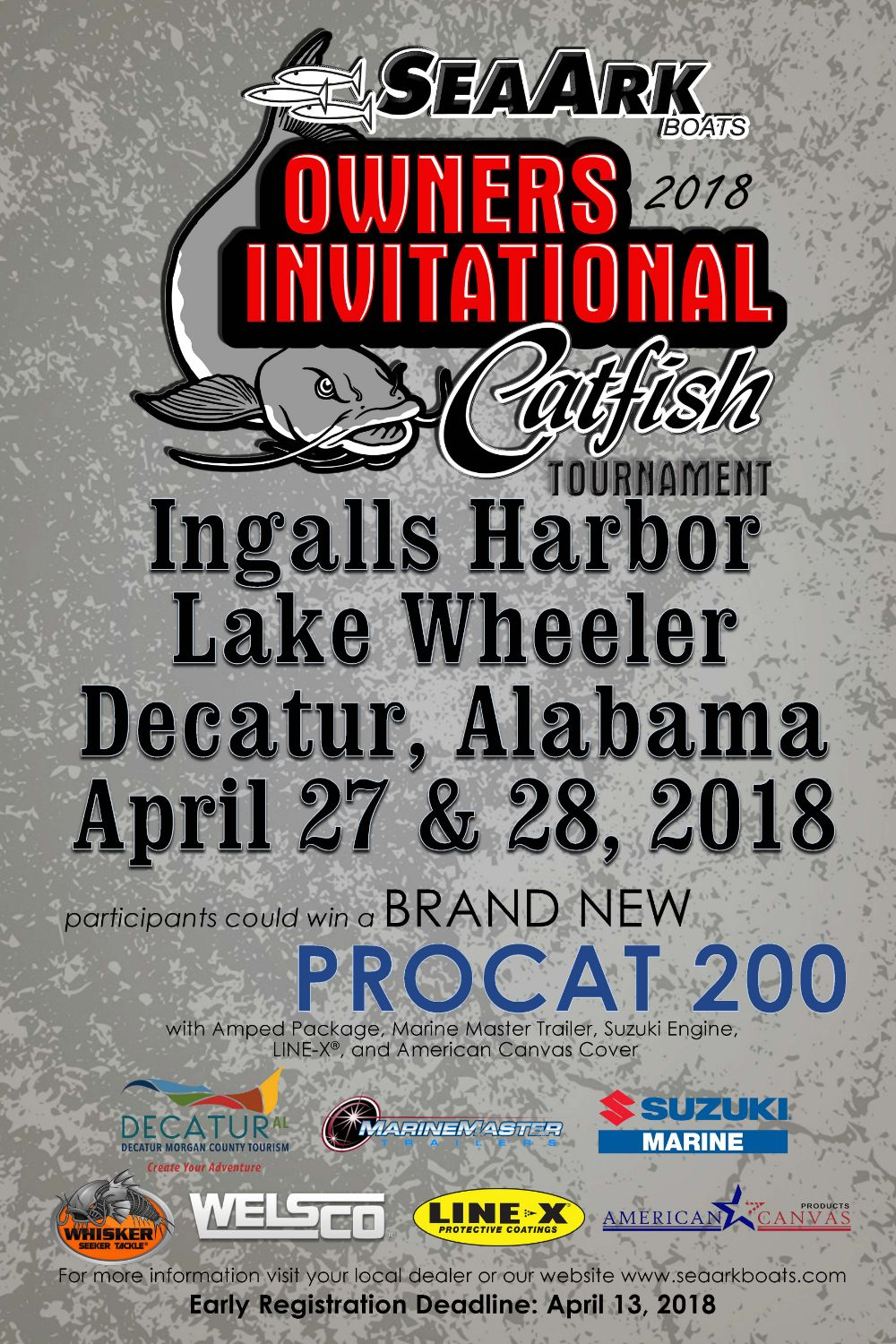 2018 SeaArk Boats Owners Invitational Catfish Tournament
